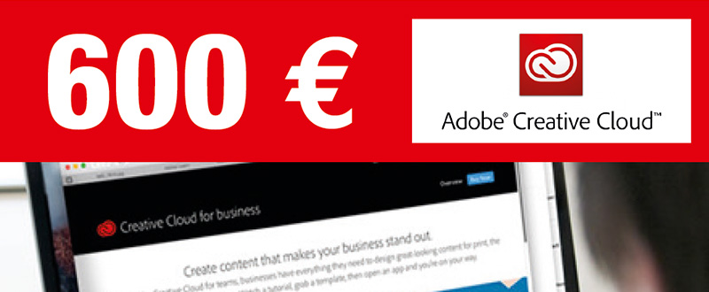 tarif exceptionnel sur la suite Adobe creative cloud