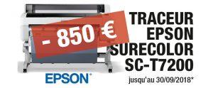 Actualités : Traceur Epson Surecolor SC-T7200 promo chez DG Solutions Graphiques